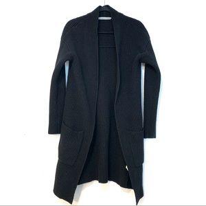 Athleta Sunday Cardigan Sweater Black Large Z90
